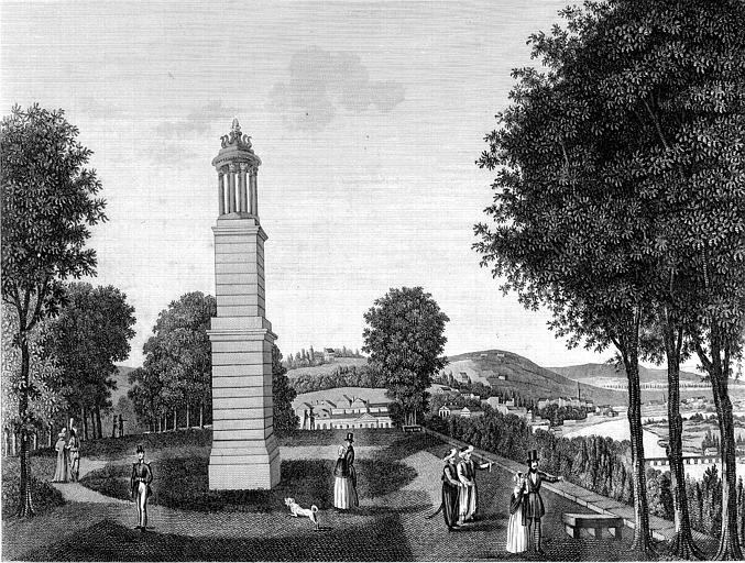 Gravure : Vue de Saint-Cloud et de ses environs. La lanterne de Diogène
