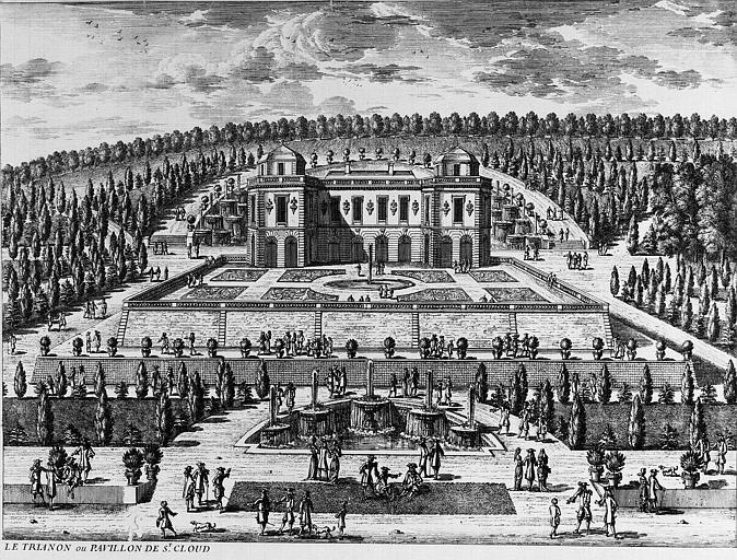 Gravure : Le Trianon ou Pavillon de Saint-Cloud