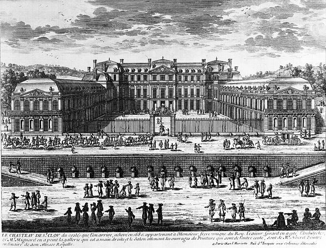Gravure : Le Château de Saint-Cloud, du côté de l'entrée