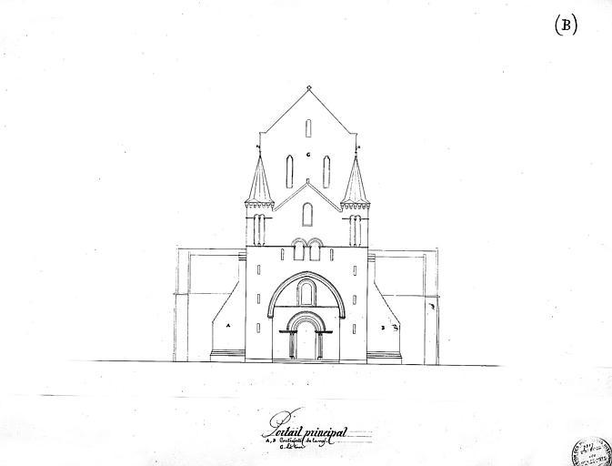 Elévation du portail principal