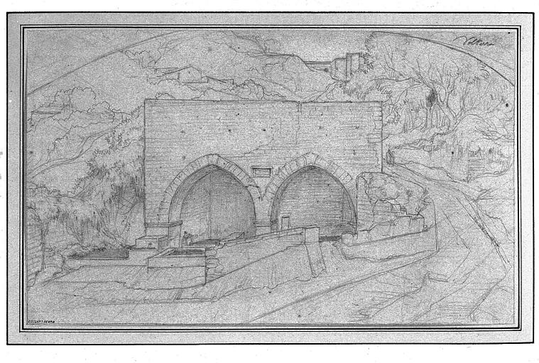 Dessin : Lavoir à Volterra