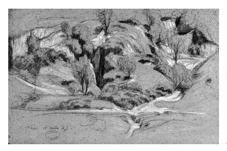 Dessin : Paysage à Narni