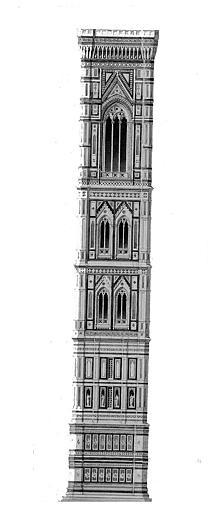 Elévation du campanile