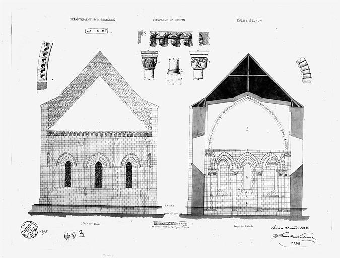 Abbaye bénédictine Notre-Dame d'Evron devenue Couvent de la Charité d'Evron