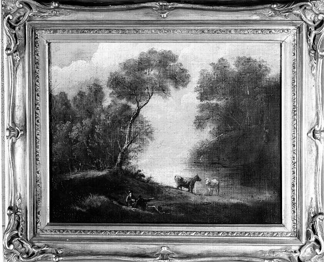 Peinture sur toile : Scène champêtre
