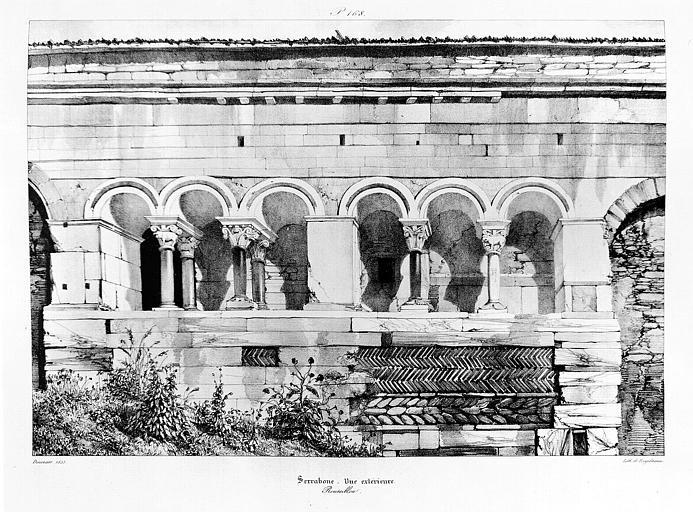 Lithographie : Vue extérieure (pl. 168)