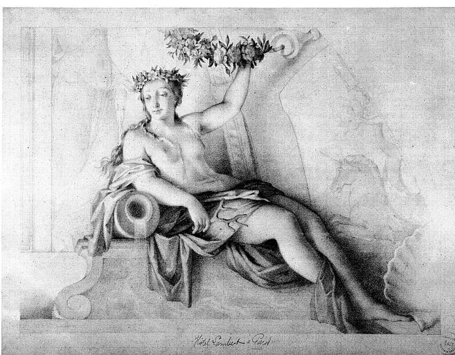 Dessin : Flore (d'après les peintures de Lesueur)