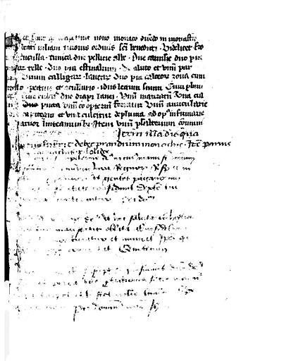 Folio d'un manuscrit (verso) : Texte