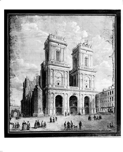 Lithographie : Vue de la façade (pl. 1)