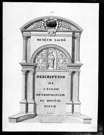Lithographie : Principale porte d'entrée (pl. 1bis)