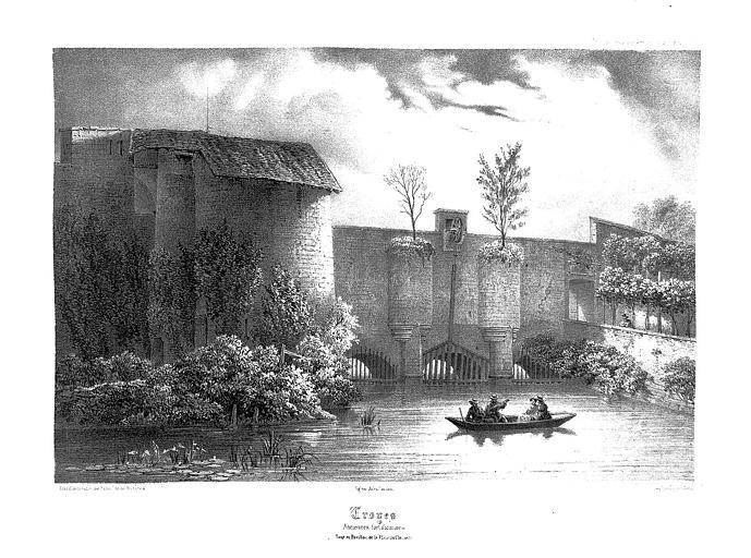 Lithographie : Tour et pavillon de la Planche-Clément