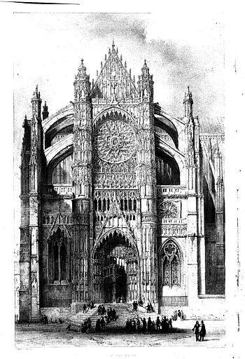 Lithographie : Le transept sud