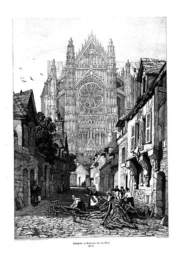Lithographie : Le transept nord