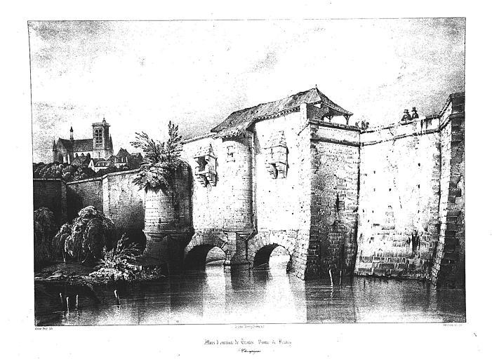 Lithographie : La vanne de Bruley