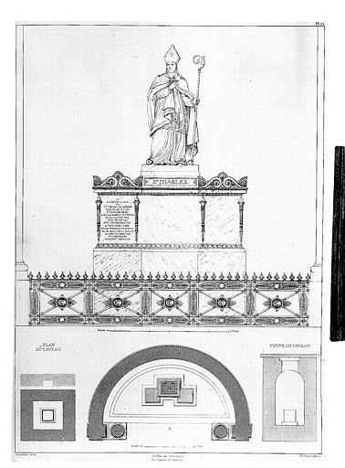 Gravure : Chapelle du monument funéraire du Duc de Berry