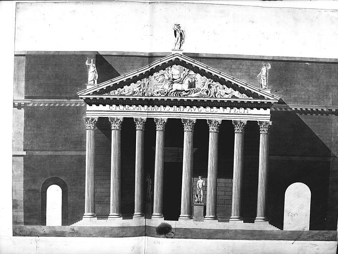 Elévation de la colonnade
