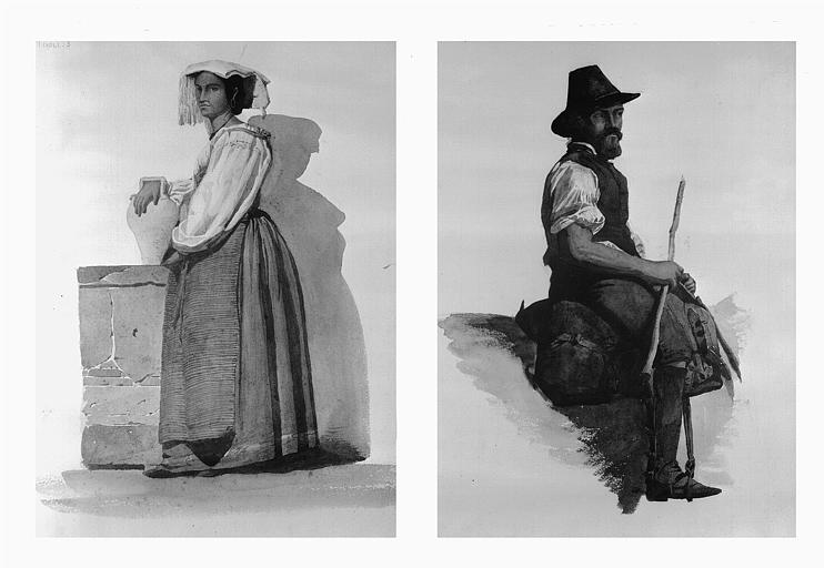 Etudes de costumes : Tivoli (3), Picadore (4)