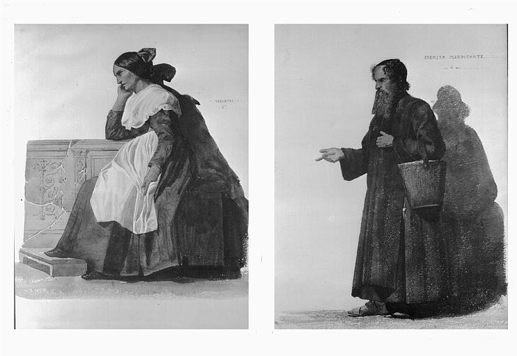 Etudes de costumes : Velletri (5), Eremita mendicante (6)