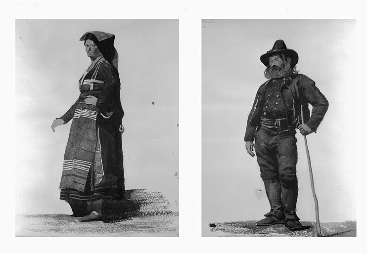 Etudes de costumes : Ciucard (10), Sonino (Napoli) (11)