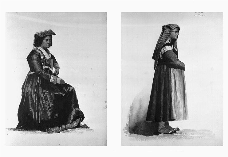Etudes de costumes : Spoza di Nettuno (20), Ciaracinese (près Tivoli) (21)