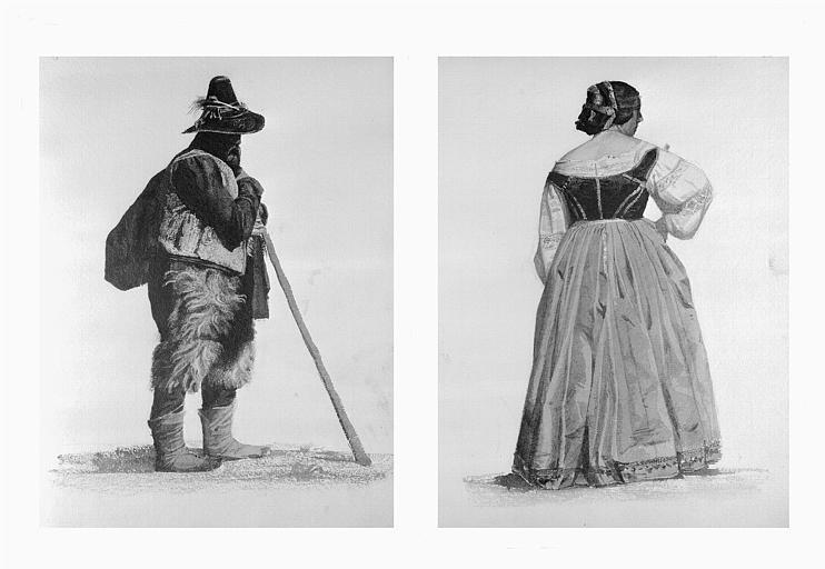 Etudes de costumes : Pecoraro (26), Mole di Gaete (Napoli) (27)