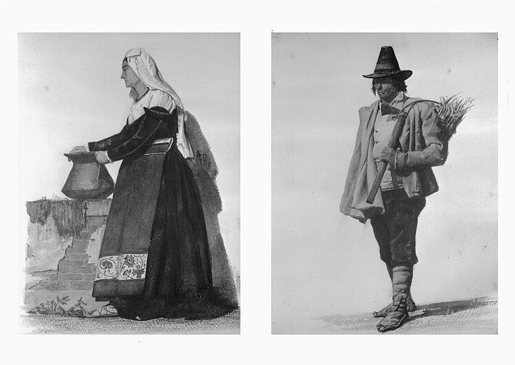 Etudes de costumes : Frosinone (32), Machiarole (Rome) (33)
