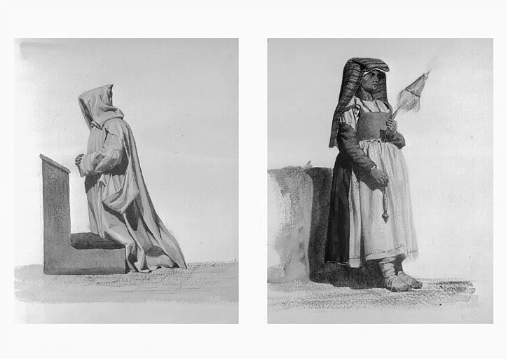 Etudes de costumes : Chartreux, ordre de Saint-Bruno (34), aracinese (35)