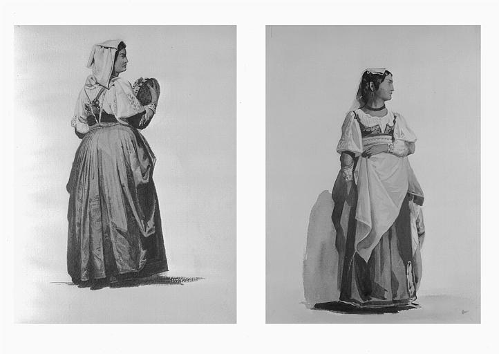 Etudes de costumes : Sposa d'Alvito (36), Sposa d'Alvito (37)