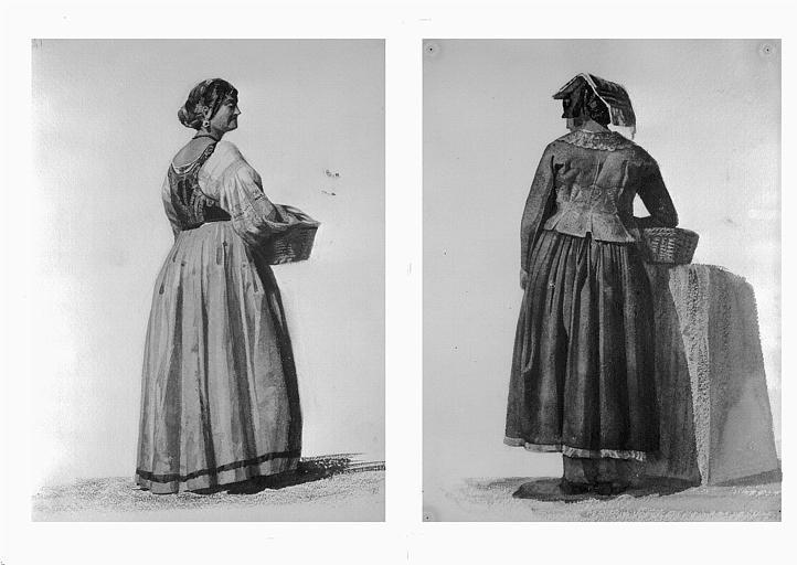 Etudes de costumes : Costumes de femmes (41) (42)