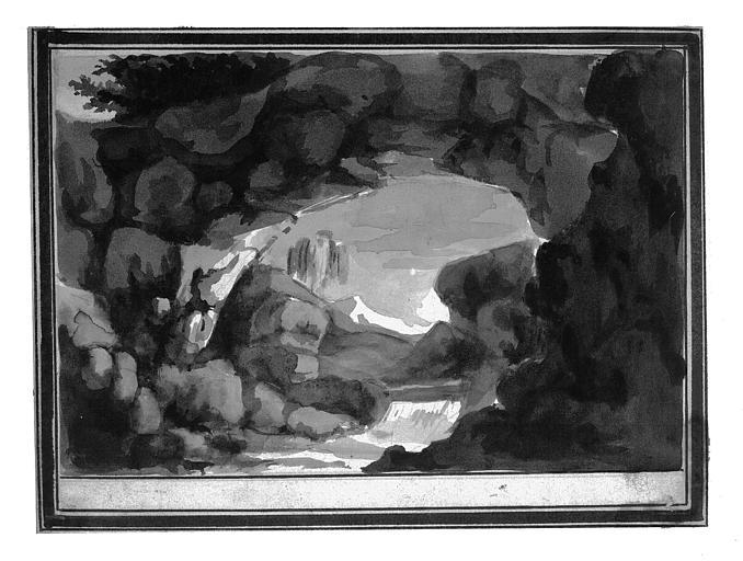 Lavis : Vue d'une grotte