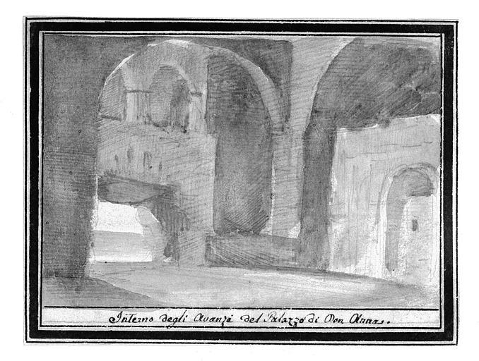 Lavis : Interno degli Avanzi del Palazzo di Don Anna