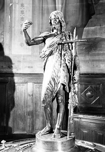 Fonts baptismaux : Statuette en bronze de saint Jean-Baptiste commandée en 1836