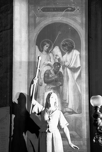 Chapelle des fonts baptismaux, peinture murale : Baptême de l'eunuque de la reine d'Ethiopie