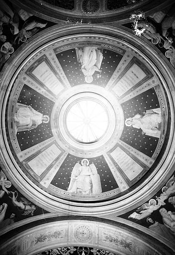Chapelle des fonts baptismaux, peintures murales de la coupole : La Sagesse, L'Ange-Gardien, L'Intelligence, L'Innocence