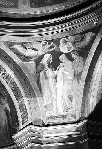 Chapelle des fonts baptismaux, peinture murale des pendentifs de la coupole : Le sel de la Sagesse