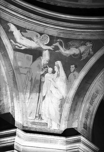Chapelle des fonts baptismaux, peinture murale des pendentifs de la coupole : L'Exorcisme