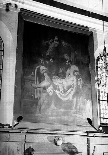 Peinture sur toile de la chapelle : Mise au tombeau