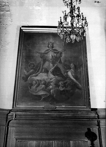 Peinture sur toile de la chapelle, donnée par l'Empereur : Apothéose de Saint Louis fondateur des Quinze-Vingts