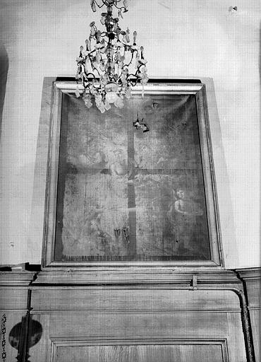 Peinture sur toile de la chapelle : Repas d'Emmäus