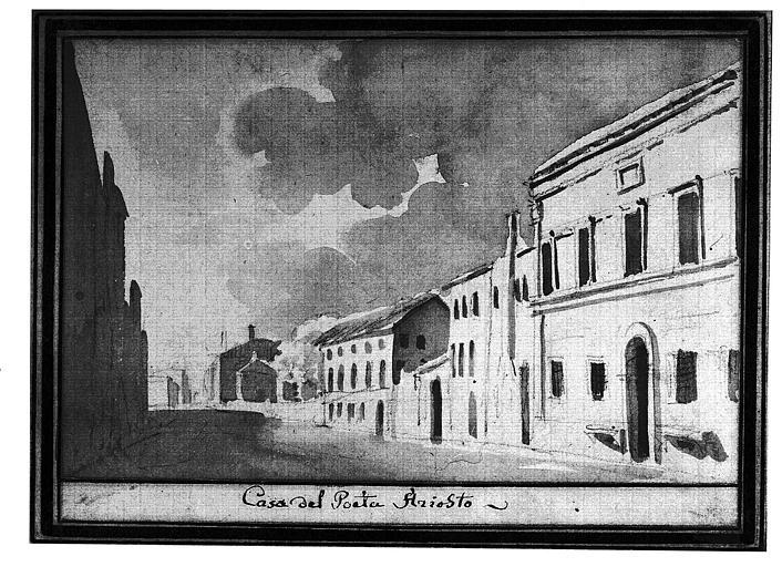 Lavis brun : Casa del Poeta Ariosto