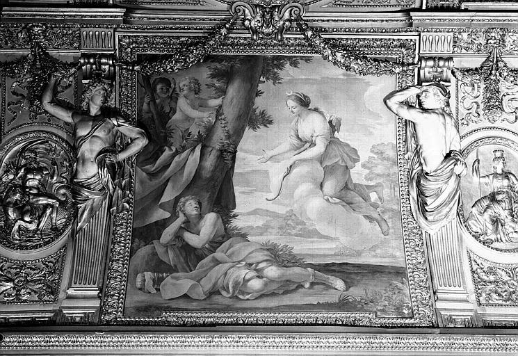 Appartements d'Anne d'Autriche, plafond peint de la salle des Saisons : Diane et Endymion