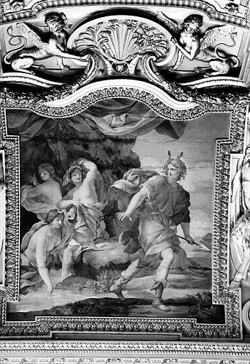 Appartements d'Anne d'Autriche, plafond peint de la salle des Saisons : Diane et Actéon