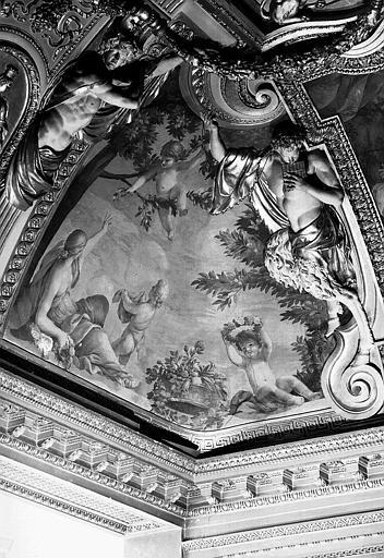 Appartements d'Anne d'Autriche, plafond peint de la salle des Saisons : Le Printemps
