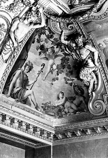 Appartements d'Anne d'Autriche, plafond peint de la salle des Saisons : L'Automne