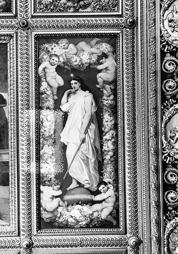 Galerie Campana, plafond peint de la 1e salle : La Philosophie (caisson est)