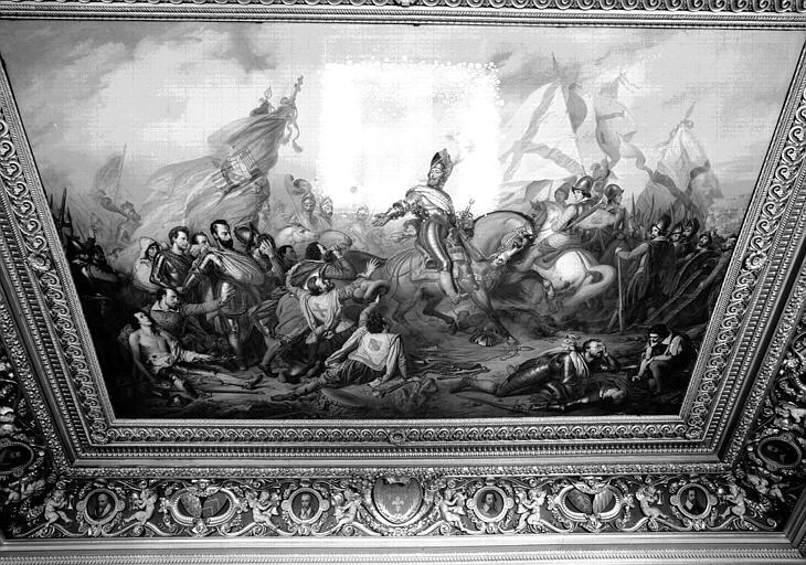Galerie Campana, plafond peint de la 2e salle : La Clémence d'Henri IV après la victoire d'Ivry