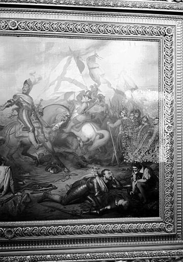 Galerie Campana, plafond peint de la 2e salle : La Clémence d'Henri IV après la victoire d'Ivry (partie droite)