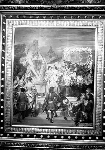 Galerie Campana, plafond peint de la 3e salle : Puget présente son Milon de Crotone à Louis XIV