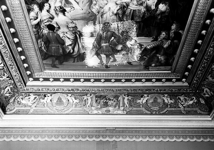 Galerie Campana, voussure nord de la 3e salle : Vue d'ensemble