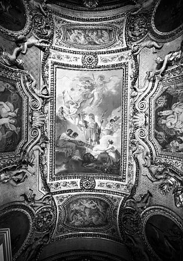 Appartements d'Anne d'Autriche, Salle de Mécène : Vue d'ensemble du plafond